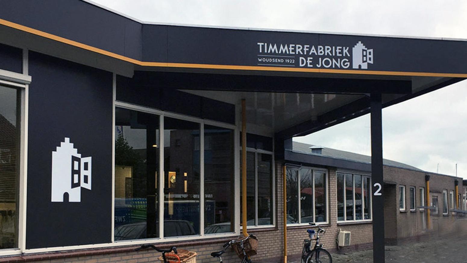 Gebouw Van Timmerfabriek De Jong Woudsend BV