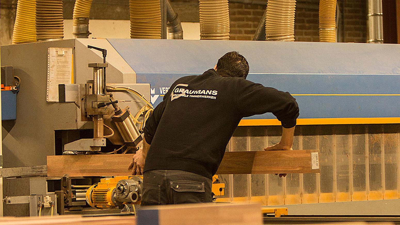 Werkplaats bij Graumans Machinale Timmerwerken in Galder