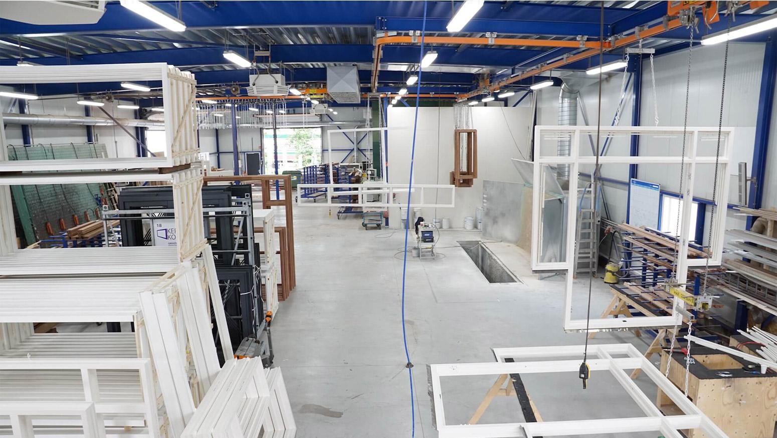 Binnenzijde fabriek kerssens kozijnen B.V.