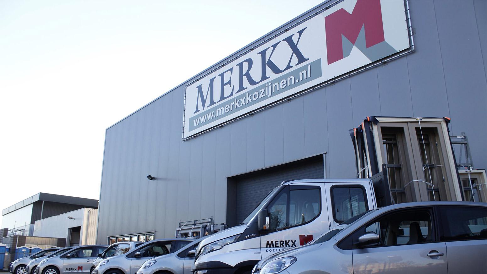 Voorzijde gebouw Merkx Kozijnen B.V.