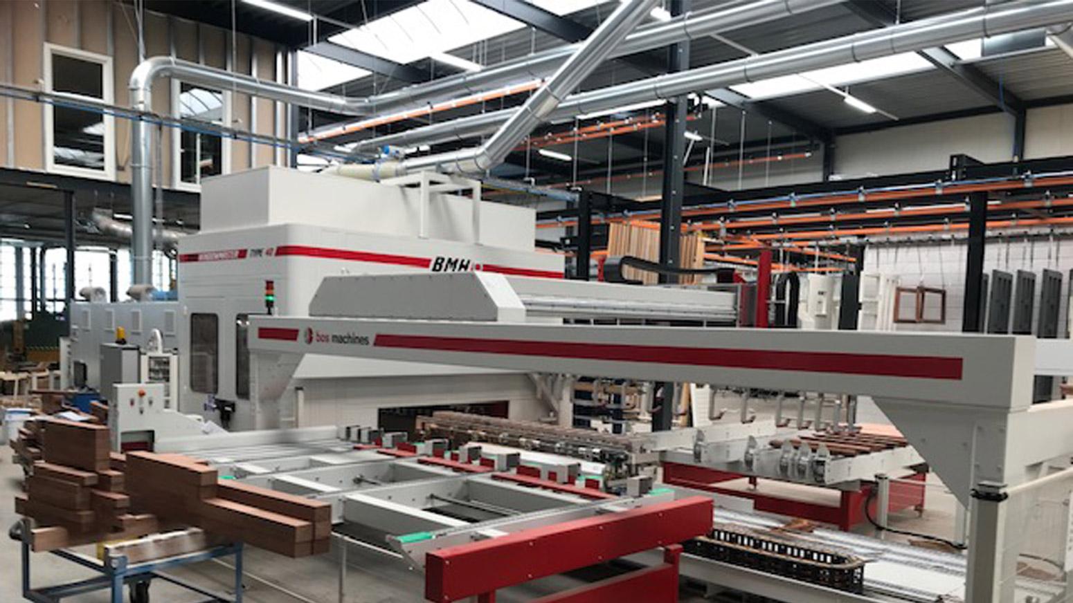 "BMH Windowmaster 40 bij Timmerfabriek de ""Grebbe"" Rhenen"