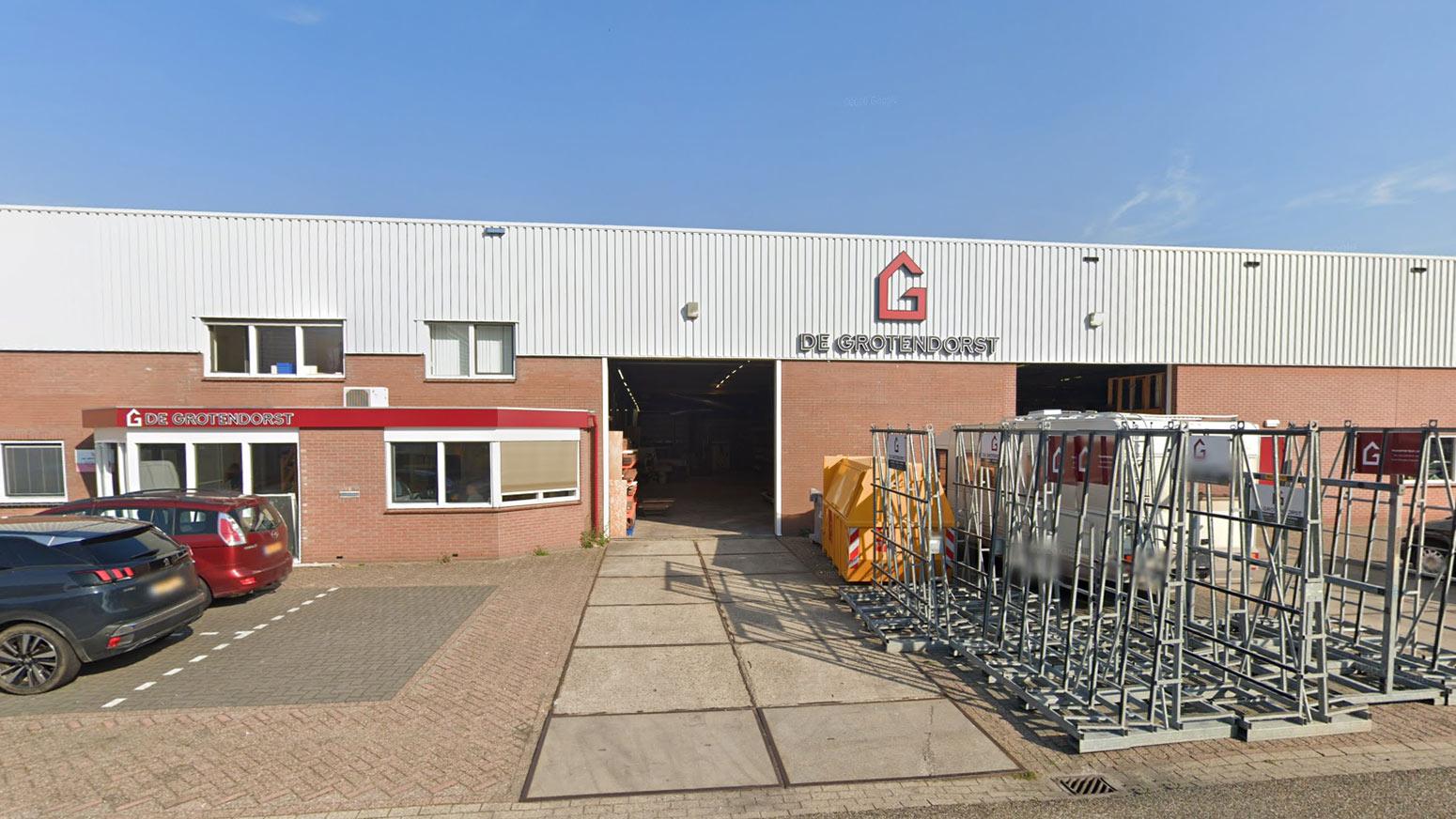 Vooraanzicht van Machinale houtbewerking de Grotendorst B.V. in Broek op Langedijk
