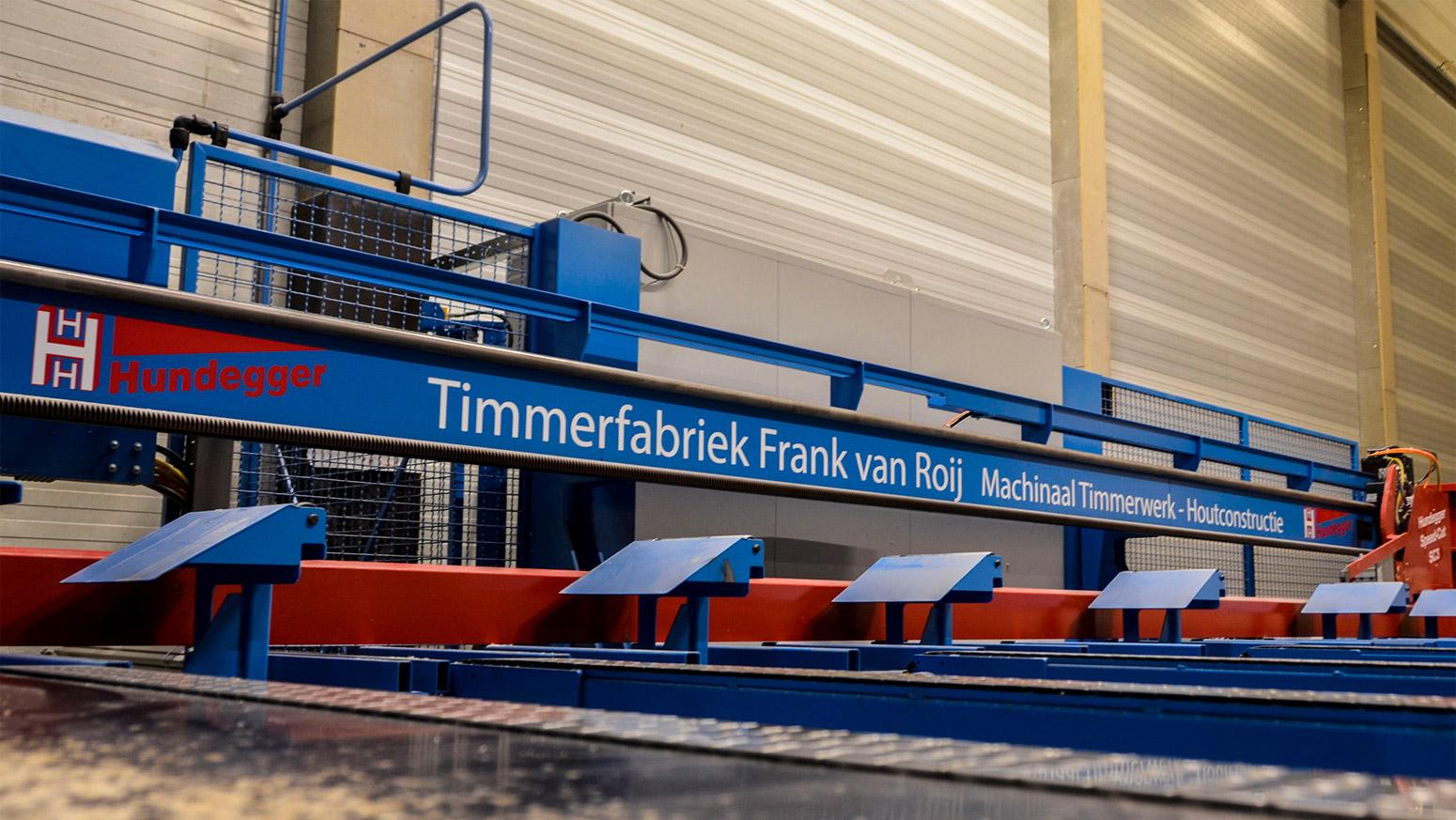 Houtverwerkingsmachine Hundegger Timmerfabriek Frank van Roij Goirle