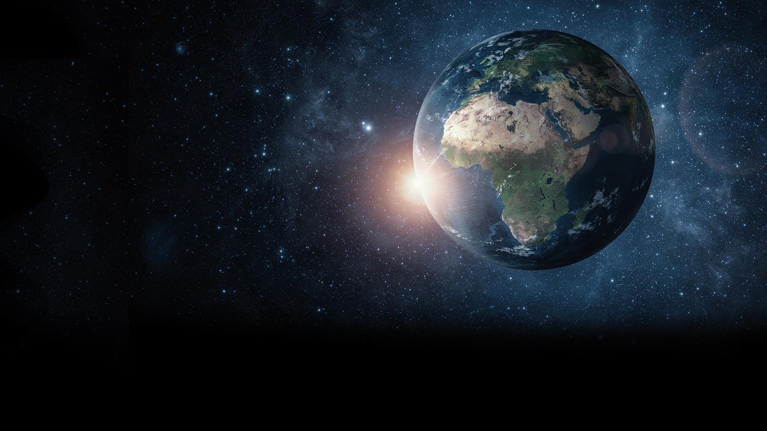 Planeet aarde vanuit de ruimte gezien